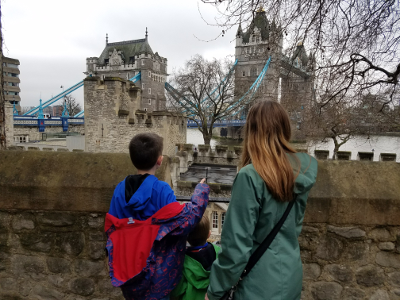 Looking At The Tower Bridge