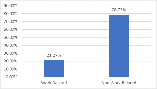 2018 Work vs Non Work Related Expenses Chart