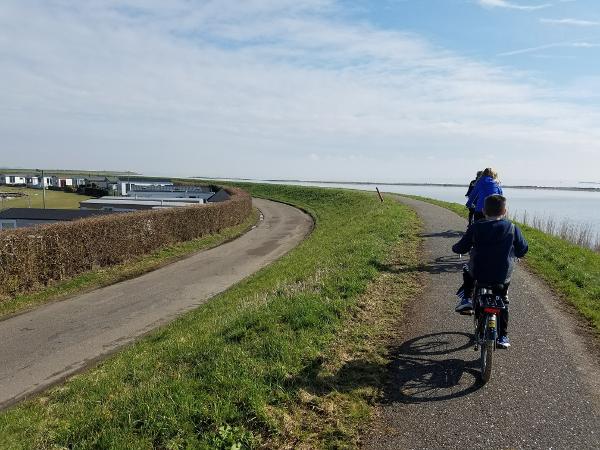 Riding bikes outside Amsterdam
